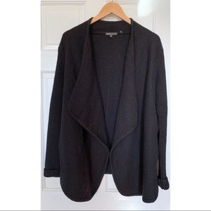 Vince Boucle Drapey Car Coat Open Sweater